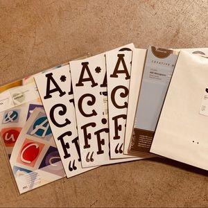 Creative Memories Monogram Letter sticker Bundle